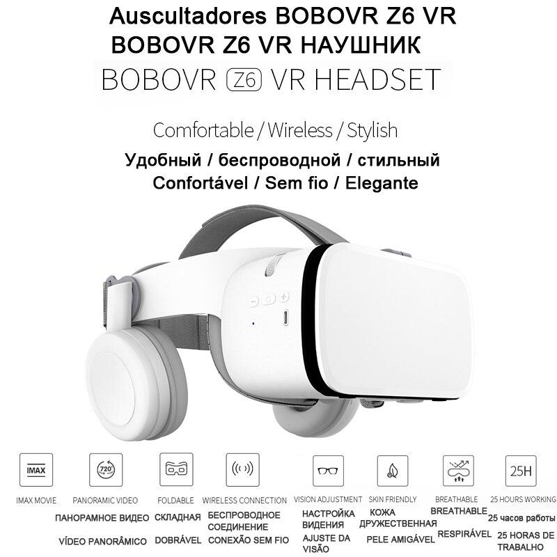 Bobo VR Bobovr Z6 Helmet Bluetooth 3D Glasses Virtual Reality Headset For Smartphone Smart Phone Goggles Viar Lenses Lunette 3 D 1