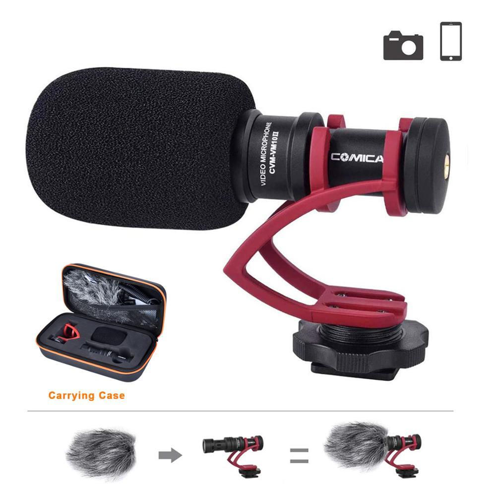 Микрофон для видеозаписи Comica, микрофон для камеры Canon, Nikon, Sony, DSLR, микрофон для видеозаписи, микрофон для смартфонов Android