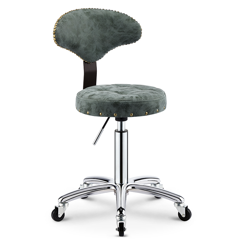 Beauty Stool Lift Rotating Back Chair Barber Chair Retro Pulley Stool Master Chair Home Makeup Stool