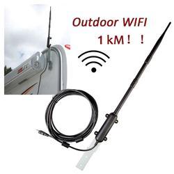عالية الطاقة 1000 متر في الهواء الطلق واي فاي USB محول واي فاي هوائي 802.11b/g/n مكبر صوت أحادي USB واي فاي محول الذكية ميمو هوائي للمنزل