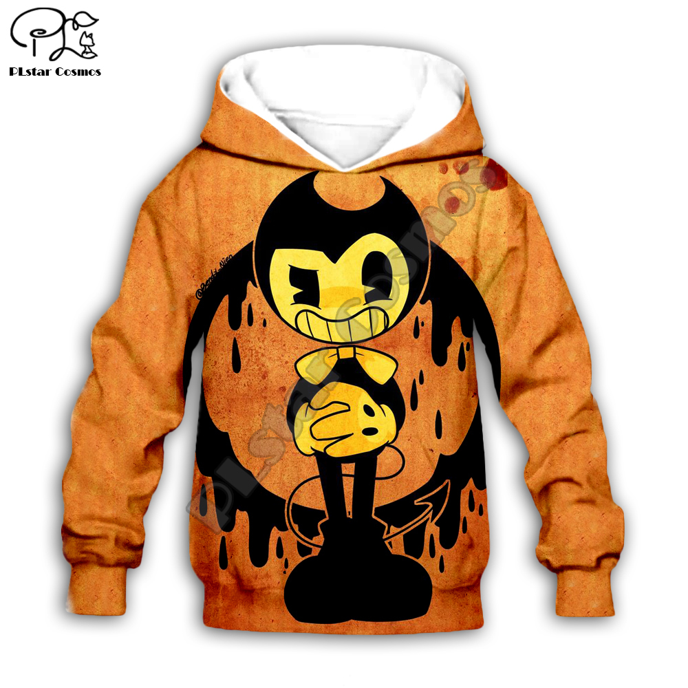 Kids Cloth Anime Bendy Cartoon Children's Wear 3d Hoodies/boy Sweatshirt Cartoon Hot Movie Pant Style-4