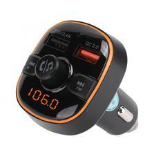Mp3-плеер BC52 Hands-free Bluetooth 5,0 автомобильный музыкальный mp3-плеер комплект аудио FM передатчик модулятор мини mp3-плеер