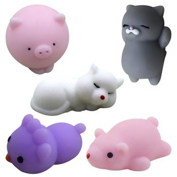 5 paczka słodkie zabawki zwierzątka stres ulga zestaw powolne rośnie zabawki typu Fidget dla dzieci dorośli antystresowe zabawki typu Fidget zabawna zabawka zabawki dla dziewczynek tanie i dobre opinie RUBBER CN (pochodzenie) Unisex Decompression Toy Animals cats NONE As shown 3 lat