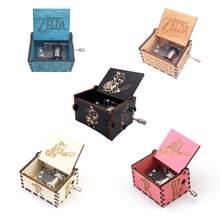 Caixa musical lenda zelda, caixa musical artesanal da lenda com manivela, presente de música de madeira, jogue zelda: tempestades da música de ocarina