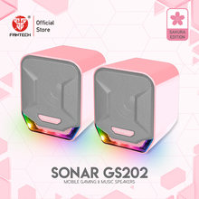 Fantech GS202 Cable Speakers 3.5MM Plug And USB Plug For PC RGB Game Speakers Acoustic Clarity And Sonorus For FPS Moba