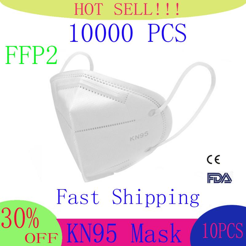 FFP2 N95 6 Layers Mask Bacteria Proof Anti Infection Face Masks Mask Particulate Mouth Respirator Anti PM2.5 Safety Dust Mask