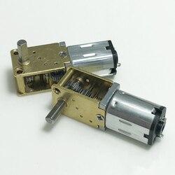 Цельнометаллический Шестеренчатый двигатель N20 С червячным редуктором, постоянный ток 3 В/6 в/12 В, 15 об/мин, 30 об/мин, 63 об/мин, 120 об/мин, медленн...