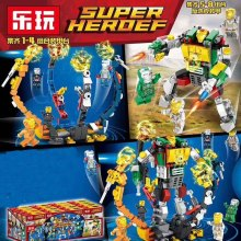 8in1 Avengers 4 Iron Man VS Hulk Mech Building Blocks Bricks Boy Toys B696