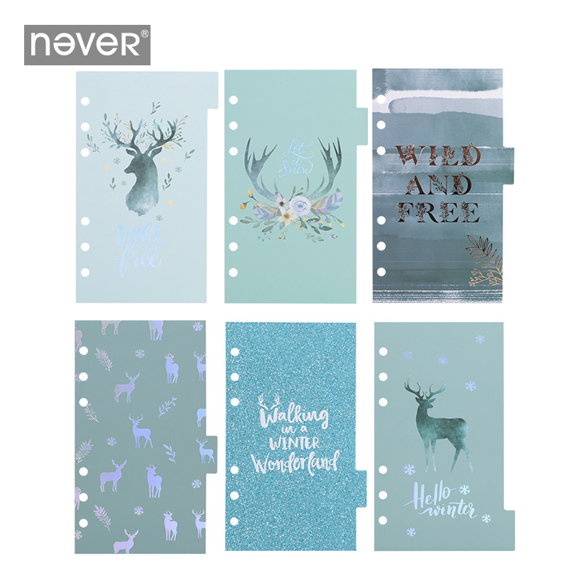 Never Cute A6 Spiral Notebook Daily Book Index Pages Planner Dividers Bookmarks Inner Paper Christmas Gift Stationery Supplies
