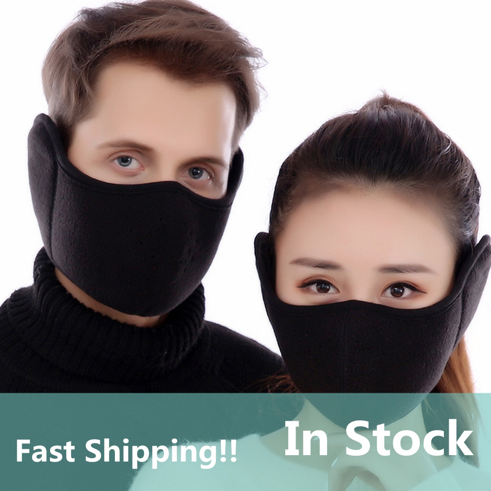 In Stock Velvet Men Women Ear Protective Mouth Mask Windproof Earmuff Anti Dust Winter Masks Breathable Anti Haze Flu Face Masks