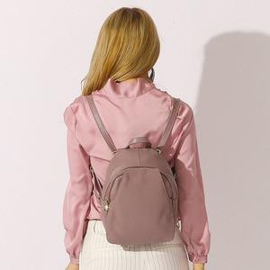 Image 3 - Zency mochilas de couro genuíno feminino senhoras moda sacos de viagem femal diário feriado mochila estilo preppy da menina
