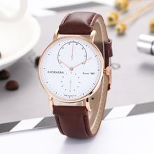 Мужские деловые кварцевые часы с двумя контактами ремешком и