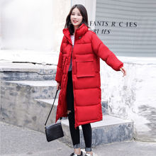Women's Long Down Jacket Down Jacket Black Red White White W