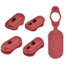 Резиновая красная прочная вилка Экологичная Электрическая защита скутера запчасти зарядный порт крышка Водонепроницаемая мини крышка для Xiaomi M365