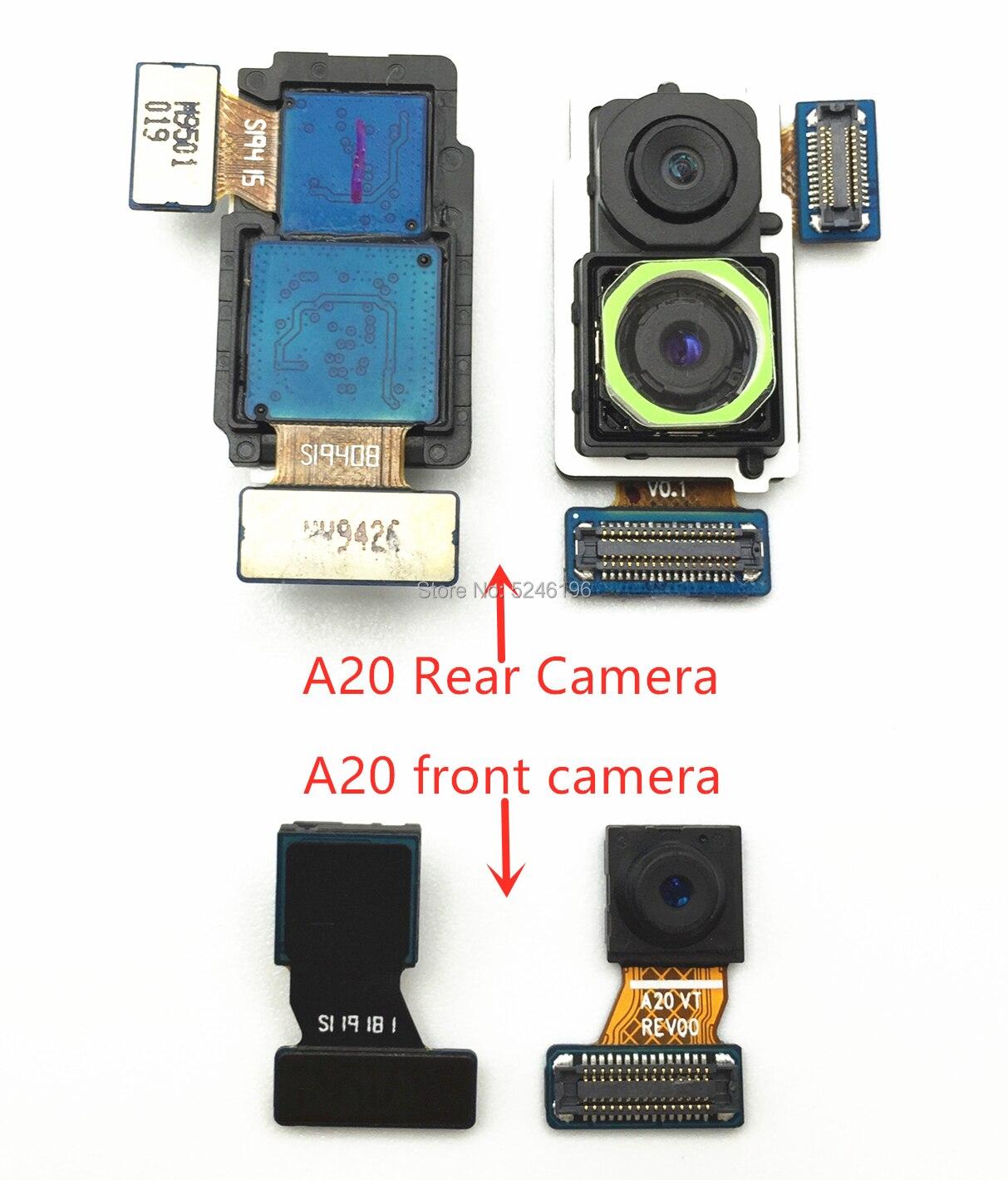 1pcs Back Big Main Rear Camera Front Camera Module Flex Cable For Samsung Galaxy A20 SM-A205 Back Main Flex Cable Replace Part