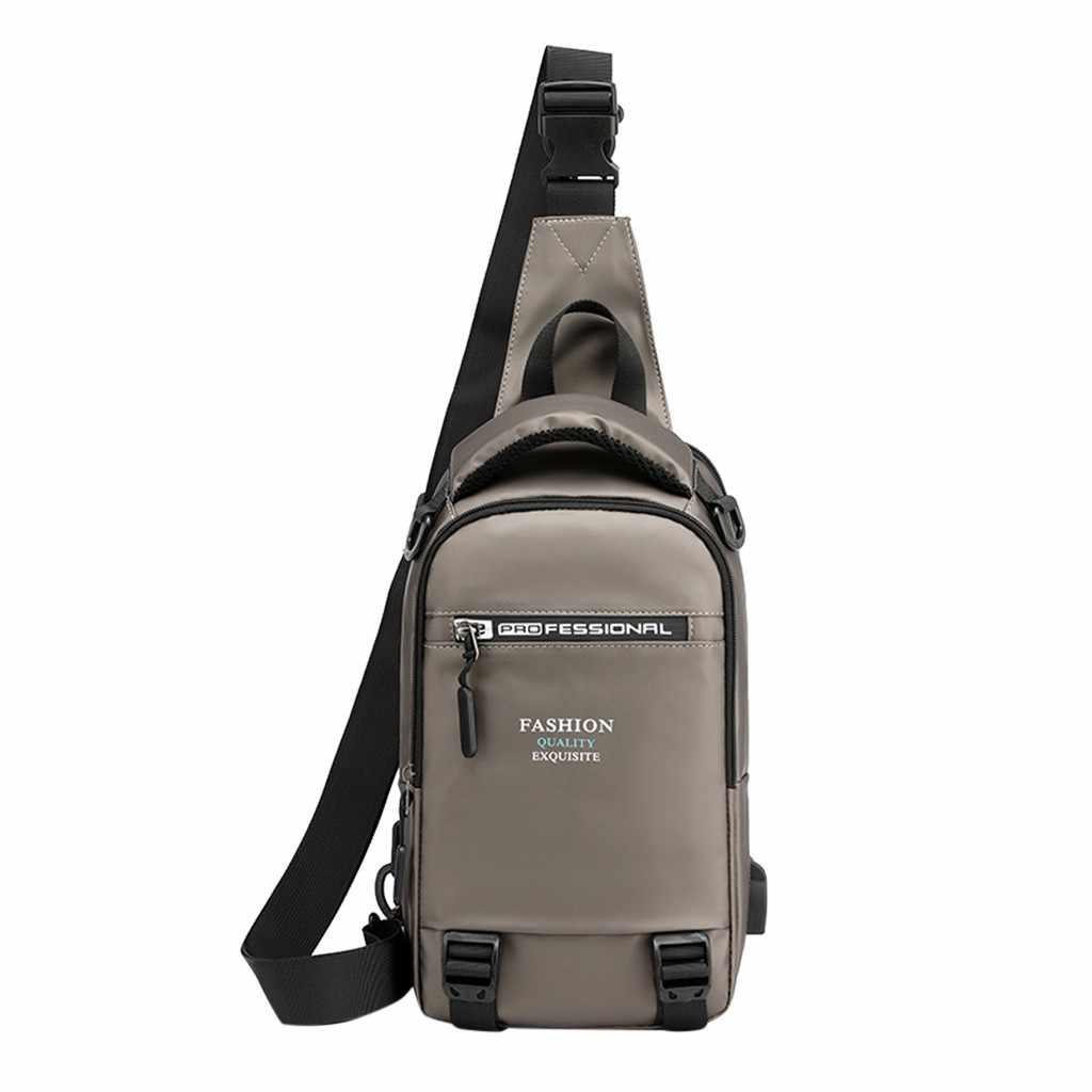 Multi-Funzione di Coppia Zainetto Esterno portatile borse borse Delle Signore borsa di spalla degli uomini di sacchetto di Grande Capacità di Ricarica Usb Sacchetto di Petto