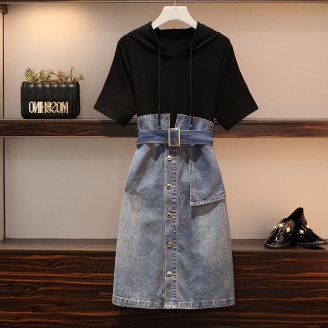 Γυναικείο φόρεμα τζιν ανοιξιάτικο καλοκαιρινό ριχτό και άνετο
