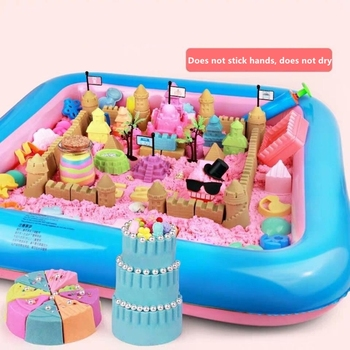 1500g Magic Sand Toys Soft Clay Slime Education Color Space Supplies Play Pressure Childrens Set