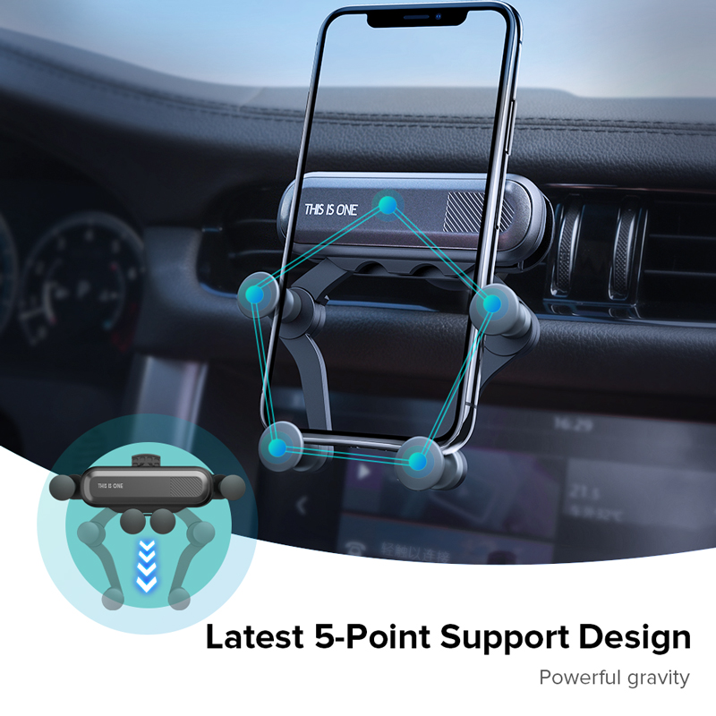 H1325c4715c8448f59ec2ab2cdd132a5aS Gravity Car Holder For Phon GPS Stand For iPhone XS MAX Xiaomi