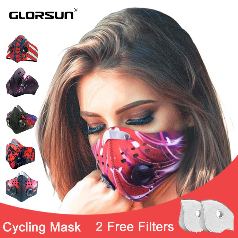Mouth Face Mask Fashion Wholesale Anti Smog  Respirator Mouth Cover  Smog Air Pollution Winter Carbon Filter Smog Mask