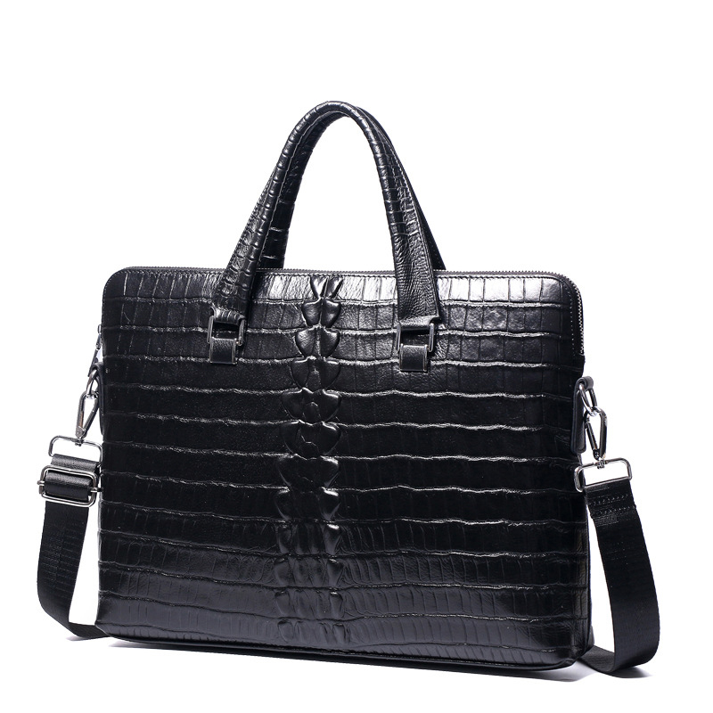 New Luxury Cow Genuine Leather Business Men' Briefcase Alligator Briefcase Shoulder Bag Men Messenger Bag Tote Computer Bag Hot
