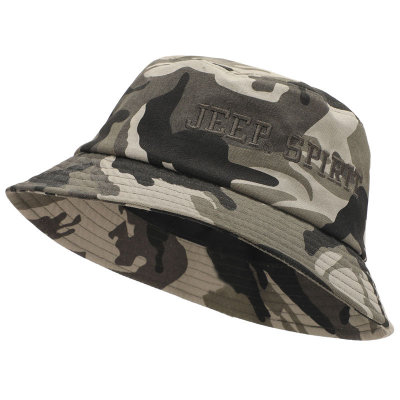 Hats Bucket-Hat Caps Camouflage-Cap Print-Letter Sun-Protection Outdoor Fashion Cotton