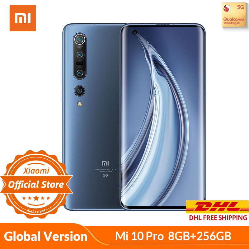 Xiaomi Mi 10 Pro 8GB 256GB 5G Global Version Snapdragon 865 SA/NSA Smartphone 108MP Q Camera 8K 4500mAh 50W Fast Charge Wifi 6