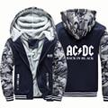 Толстовка мужская с капюшоном и надписью, утепленная куртка в стиле рок-группы AC & DC, свободная толстовка в винтажном стиле, худи в стиле Хара...