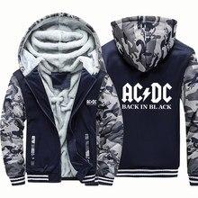 Ac & dc rock band música carta grosso hoodies homens casaco de inverno jaqueta solta hoodie vintage punk com capuz harajuku