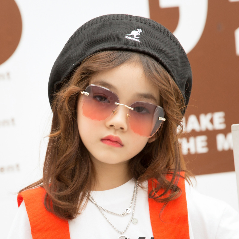 children's sunglasses 9930 European and American fashion trimming tong frameless sunglasses street snap glasses factory image