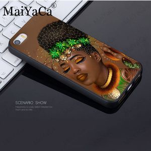 Африканский афро меланин поппин черная девушка на заказ фото мягкий чехол для телефона для iphone 11pro 5S 6s 7 8plus x xs xr xsmax coque Cover