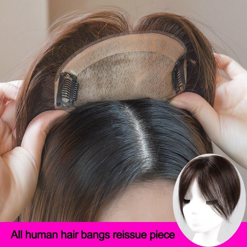 Женский парик с средняя часть Синтетические прямые искусственные Материал волос ручной работы фигурки жениха и невесты; Шиньон натуральных волос Clipins|Синтетические парики без сеточки| | АлиЭкспресс