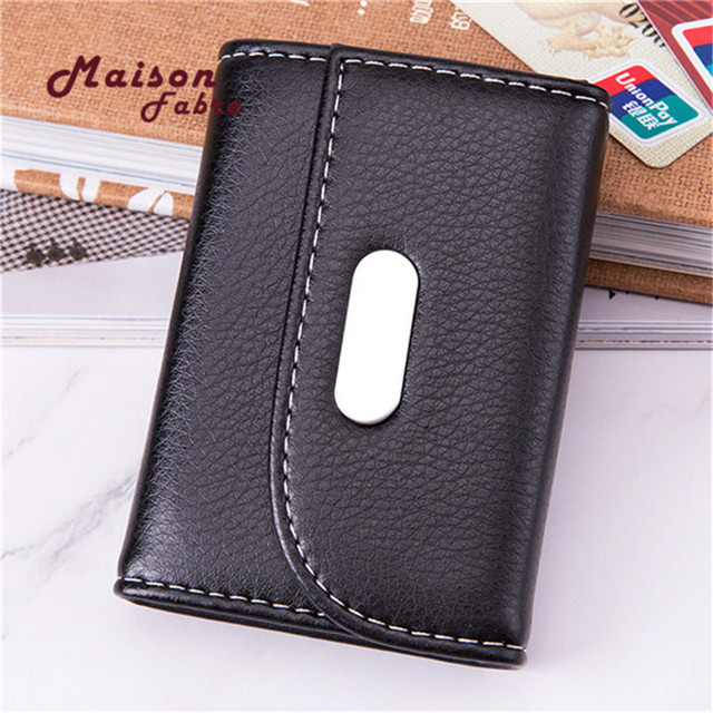 Slim RFID bloqueo billetera de cuero titular de la tarjeta de crédito monedero de dinero de caso para el caso de los hombres las mujeres 2019 bolsa de moda 10.5x7x2cm