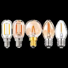 G40 T22 T20 Глобус Винтаж светодиодный нити светильник лампа 1 Вт 2200K E12 E14 110V 220V золотого оттенка с регулируемой яркостью лампы, декоративная люст...