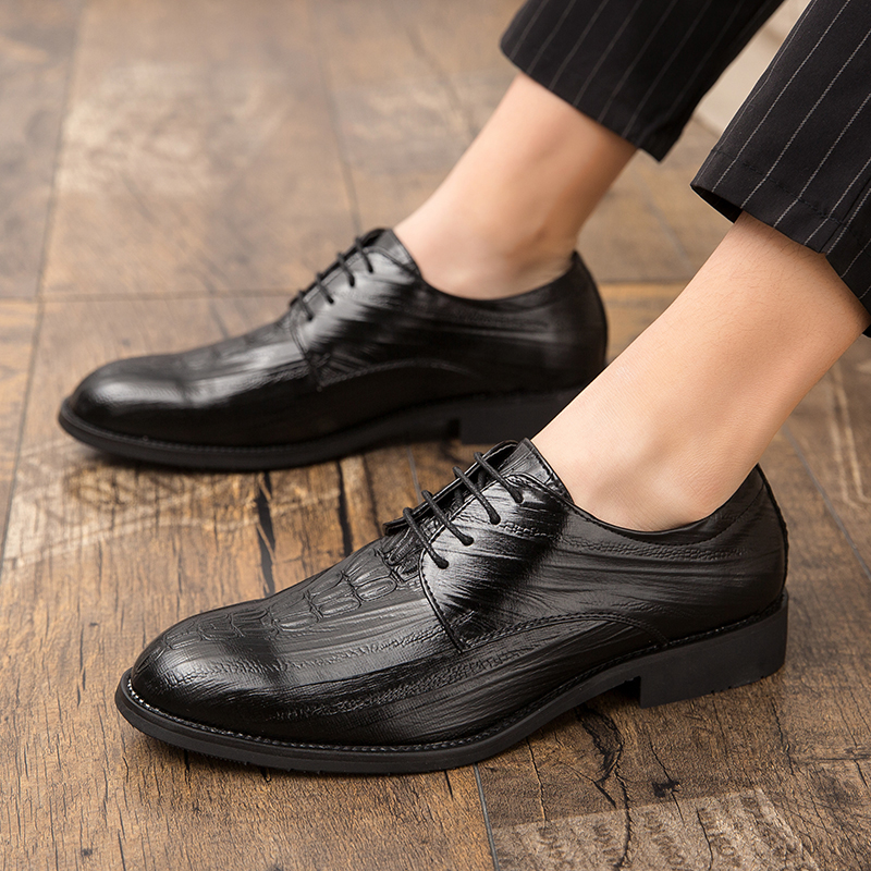 Details about  /New Mens Genuine Leather Bsuiness Leisure Shoes Pointy Toe Work Lace up Oxfords