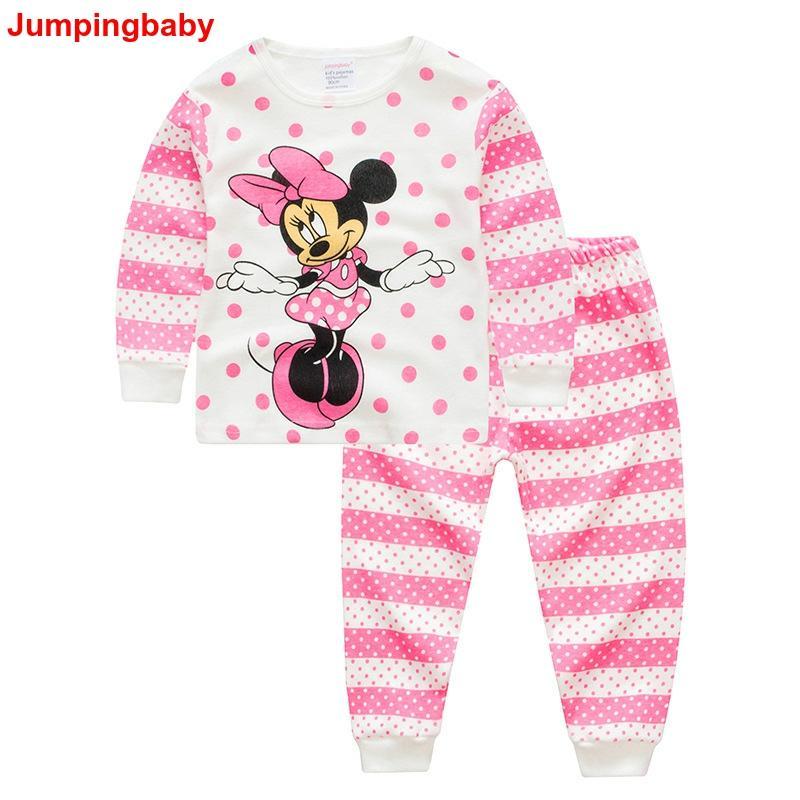 Combinaison bébé 2019 Kigurumi Minnie Pyjamas Pijama ensemble bébé fille vêtements Pyjamas enfants Pijamas Infantil Enfant chemise de nuit dessin animé Pjs