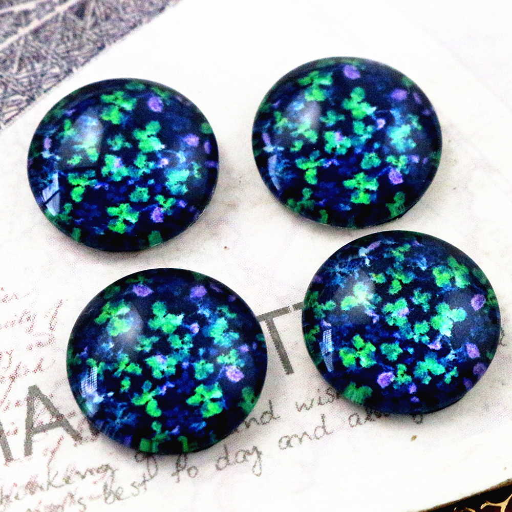 New Fashion  20pcs 12mm Handmade Photo Glass Cabochons E4-77