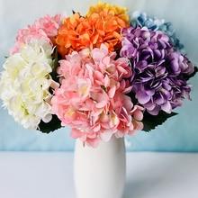 Artificial Flowers Branch Wedding Party Hydrangea Bouquet Single Silk Cloth Faux Floral Plants Dried