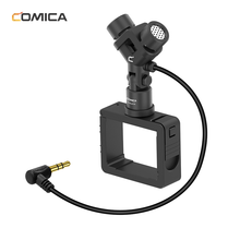 Comica CVM  MT06 XY Stereo Microphone for DJI OSMO Pocket Cardioid Condenser Mic With Original USB C to 3.5MM Microphone Adapter