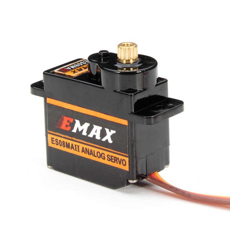 10Pcs Emax ES08MA II 12G Mini Metal Gear Analog Servo untuk untuk RC Motor Bagian Pengganti Tahan Guncangan dan stabil RC Servomotor