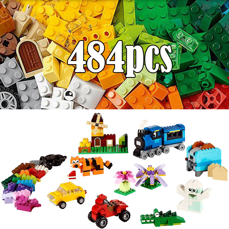 <font><b>Classic</b></font> No duploe Medium Creative Building Blocks Bricks enlighten DIY <font><b>legoinglys</b></font> toys for children boys girls <font><b>10696</b></font> 10702 10703 image