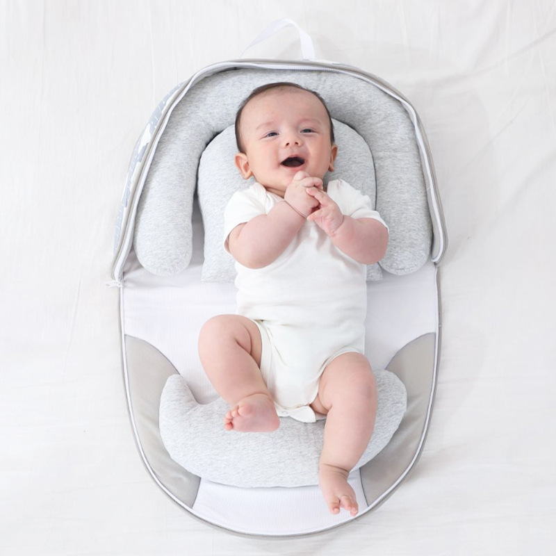 New outdoor travel portable crib foldable zipper portable baby crib bed baby photography props  bassinet  nursery 2021