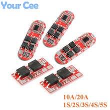Placa de circuito bms 1s 2s 10a 3s, 4S 5S 20a 18650 proteção de bateria de lítio li-ion lipo placa de carregamento célula de lipo do módulo pcb pcm