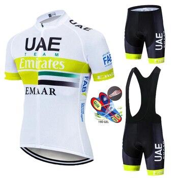 2020 UAE camiseta de Ciclismo MTB Ropa de bicicleta de montaña conjunto corto Ropa de Ciclismo para hombre