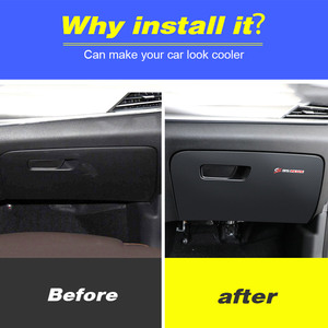 Image 2 - Vtear For Changan CS35 Plus Glove box anti kick cover Car Frame styling stickers interior decoration Trim accessories parts 2020