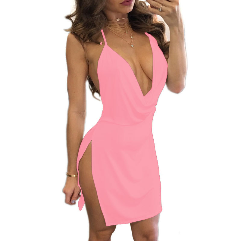 ONCE Womens Dresses New Arrival 2020 Sleeveless Bodycon Backless Solid Color Dress Loose Slim Commuter Casual Strapless Dress