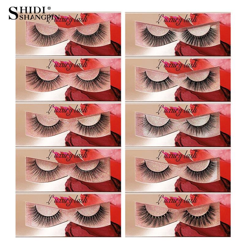 SHIDISHANGPIN 1 Pair 3d Mink Hair False Eyelashes Natural Long Fake Eye Lashes Extension Sexy Makeup Beauty Cruelty Free Bulk