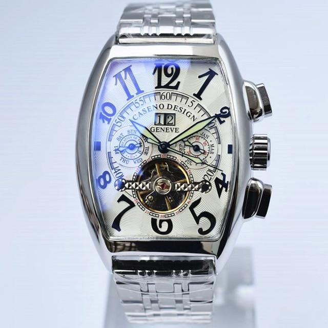 トゥールビヨン腕時計メンズスケルトン自動機械式メンズ腕時計トップブランドの高級軍スポーツウォッチステンレス鋼男性時計