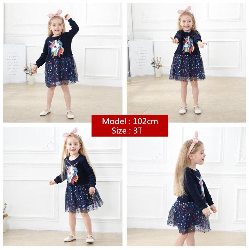 Kids Dress Toddler Girl Dresses Pink unicorn Baby Girl dress Casual Girl clothing 1-6 Y  Costume Girls  2021 brand spring Dress 2