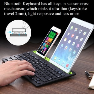 Image 2 - Bluetooth MIni Keyboard With Phone Holder Wireless Keyboard For Tablet/Laptop/phone,Compatible with IOS/Windows/Android